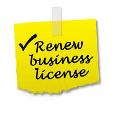 yellow tag with text renew business license